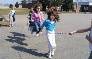 Jackson Elementary students enjoy a sunny recess Tuesday.