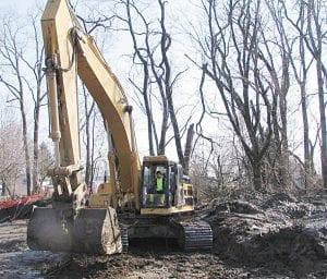Underground Utilities, Inc. begins work near Copper Penny Road