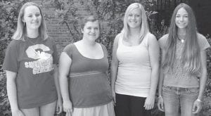 Sheridan High School: Four students share the title of valedictorian at Sheridan High School this year. Left to right, they are Allison Wills, Heidi Bowles, Emily Forgrave, and Molly Brink. Allison will attend Muskingum College, where she'll major in biology; Heidi is headed to the American Musical and Dramatic Academy in New York City to study musical theatre; Emily will major in pre-pharmacy at the University of Cincinnati; and Molly's going to The Ohio State University.