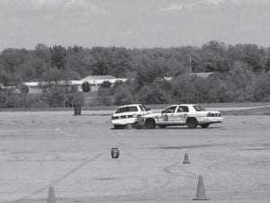 Columbus Police officers spent weeks this spring at National Trail Raceway in PIT (performance instruction and training) sessions. Lt. Mark Gardner said the raceway is one of the few places in the Columbus area with enough open pavement for officers to learn to use their cruisers to spin a fleeing vehicle, learn the proper way to throw