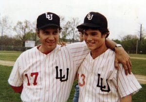 Jim Reed and his son, Rudy following a win over Logan Elm for the MSL Championship in 1978. Courtesy Photo.