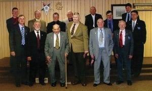 Alturas Lodge #537 of Millersport (pictured above) recently held its annual inspection with Worshipful Master James Reed presiding. District Deputy Grand Master Steve Norton was the Inspecting Officer for the evening proceedings. The Master Mason Degree was given to Brother Ralph Baughman. Front row, left to right are Jerry Detwiler, Garland Snyder, Don Alexander, Ralph Baughman, Bob James and. Fred Zollinger. Back row, left to right are Steve Norton, Mike Thomas, Rod Wilson, Dick Harlow, Tomy Taylor, Jack Whitney, Steve Harris and Shawn Carter. Courtesy photo.