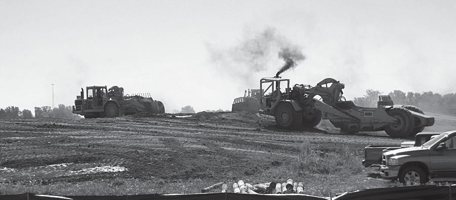 Developer moving dirt again
