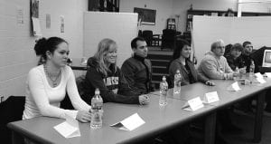 Recent Lakewood graduates offered advice to Lakewood students during three lunch hour forums on Dec. 21. Courtesy photo.