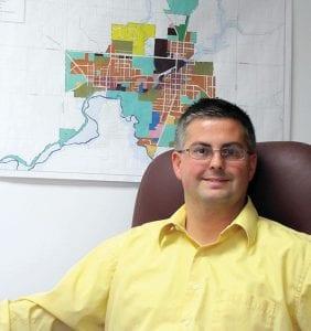 Baltimore's new village administrator Scott Brown served two years as village administrator for McConnelsville in Morgan County, Ohio. Beacon photo by Scott Rawdon.