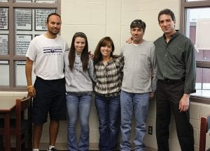 Lakewood senior Elizabeth Abbott recently signed to play soccer at Shawnee State University this fall. Pictured above, from left to right, are Shawnee State women's soccer coach Rob Appell; Abbott; mother, Meg Abbott; father, Curt Abbott; and Lakewood High School head soccer coach Jim Dobos. Courtesy photo.
