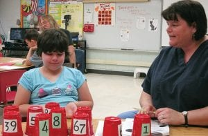 About 120 students and parents turned out April 17 for Family Math Night at Millersport Elementary School. The evening started with a free spaghetti dinner followed by math activities in classrooms until 8 p.m. Courtesy photo.