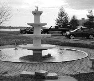 Vandals struck the rebuilt community fountain at the North Shore boat ramp Monday night. Beacon photo by Scott Rawdon.