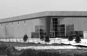 This 50,000 square foot 'spec' building just west of Ohio 79 in Hebron has been leased by Goodyear Tire and Rubber. The research and development facility will initially employ 30 primarily technical workers. Beacon photo by Charles Prince.