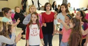 """The """"Orphans"""" rehearse for the Millersport Community Theatre production of """"I Dream of Broadway."""" Performances are at 7 p.m. on Friday, March 3 and Saturday, March 4, at Millersport Elementary School. Tickets are $10 available at the door. Visit www.mctohio.com for more information. Courtesy photo."""