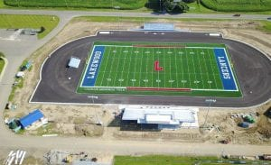 Due to the threat of thunderstorms Thursday evening, the dedication of Lakewood's new football stadium has been postponed until 6 p.m. on Monday, August 21. The fall sports teams will also be introduced. Courtesy photo.